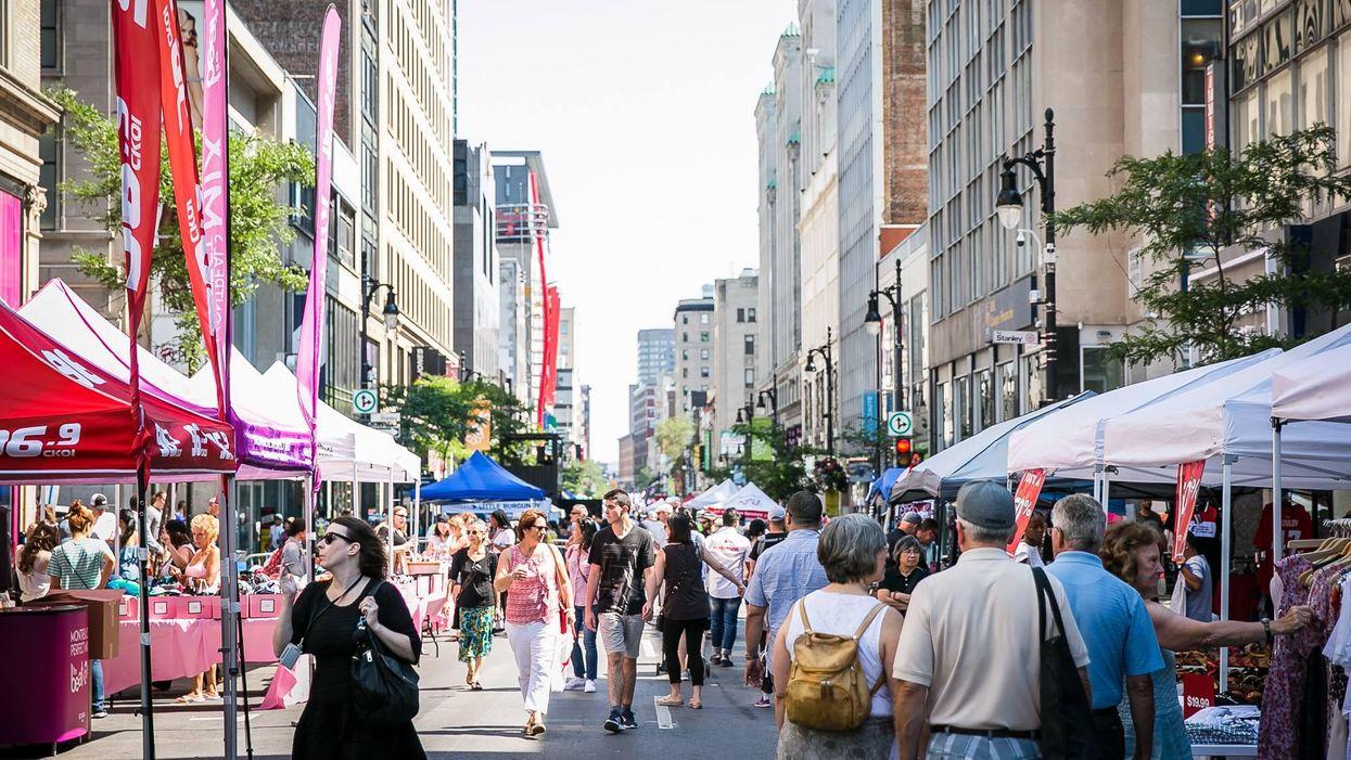 Montreal's Huge Sainte-Catherine Sidewalk Sale Is Back In 2021