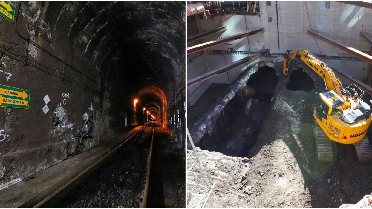 REM Construction Has Given Us A Peek Inside The Tunnel Under Mount-Royal (PHOTOS)