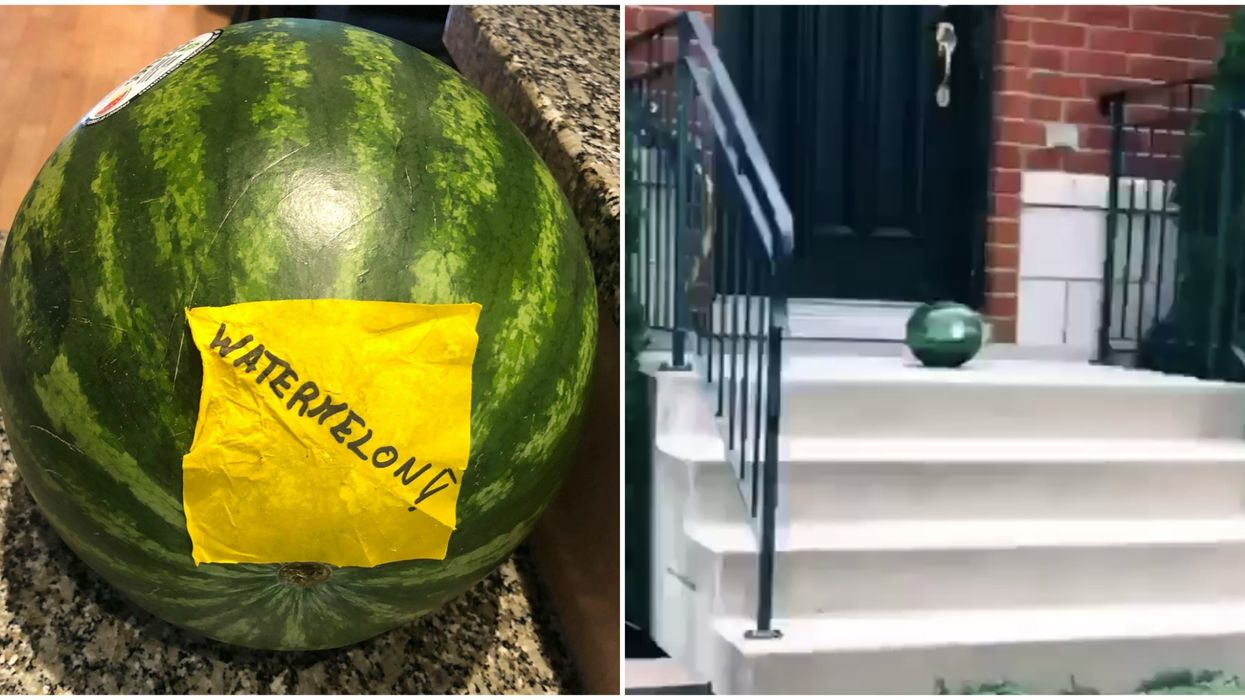 Some Montrealers Woke Up To Watermelons With Strange Notes On Their Doorsteps (VIDEO)