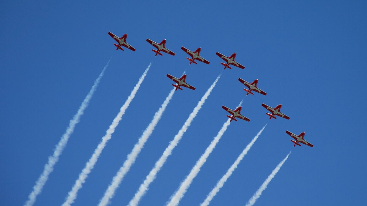 The Canadian Forces Snowbirds Will Fly Over Quebec Today As Part Of 'Operation Inspiration'