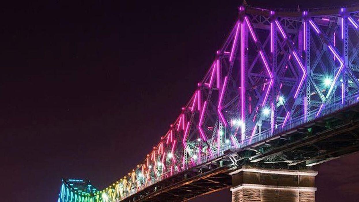 The Cartier Bridge Put On A Rainbow Light Show To Let Us Know That #çavabienaller (Video)