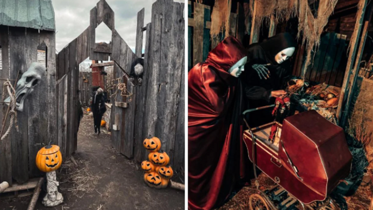 This Creepy Halloween Festival Near Montreal Lets You Venture Through A Haunted Maze