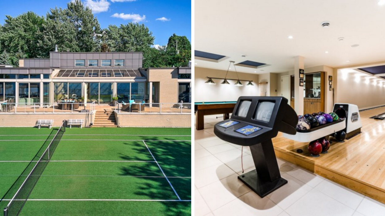 This Montreal Mansion For Sale Even Has Its Own Bowling Alley (PHOTOS)