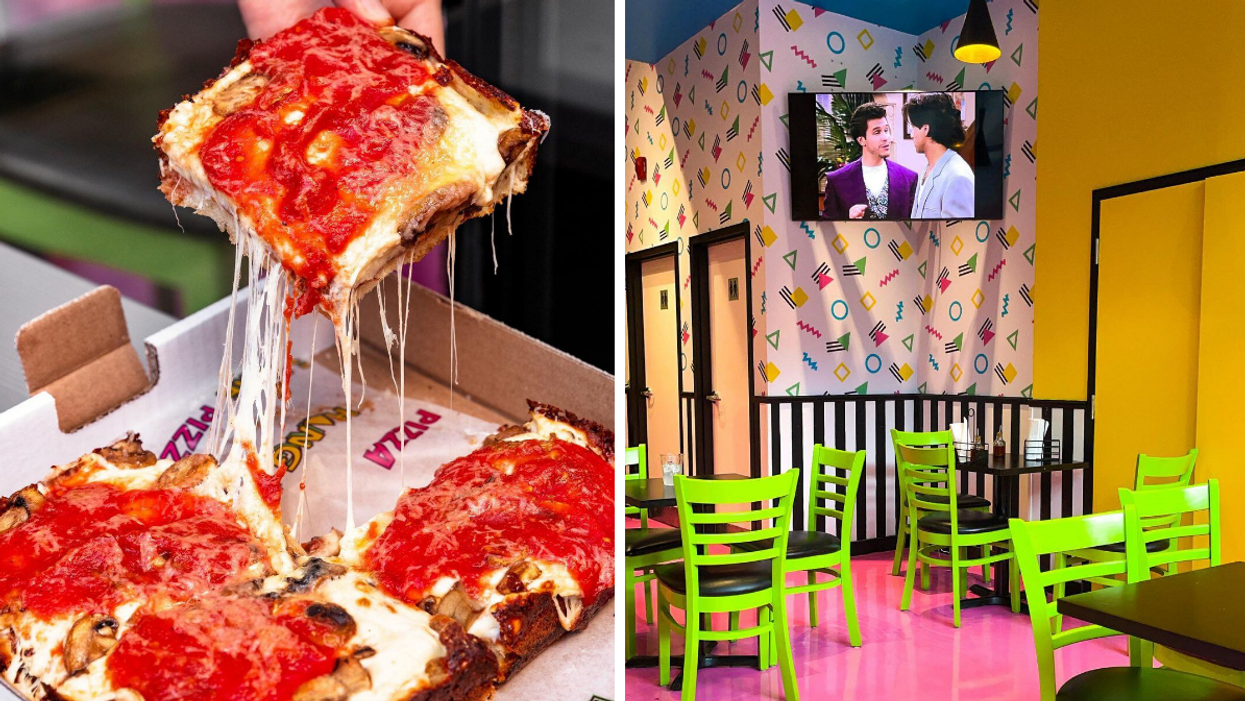 This New Montreal Pizza Spot Feels Like Hanging Out With 'The Gang' In A '90s Teen Sitcom