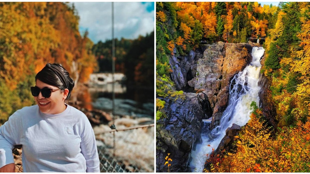 This Quebec Waterfall Is The Most SURREAL Place To Experience The Magic Of Fall (PHOTOS)