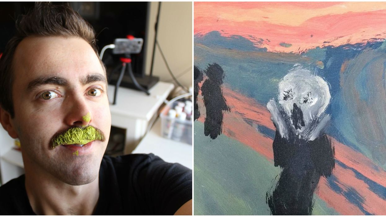 This Quebecer Is Making Paintings Entirely With His Mustache For Men's Health (VIDEO)