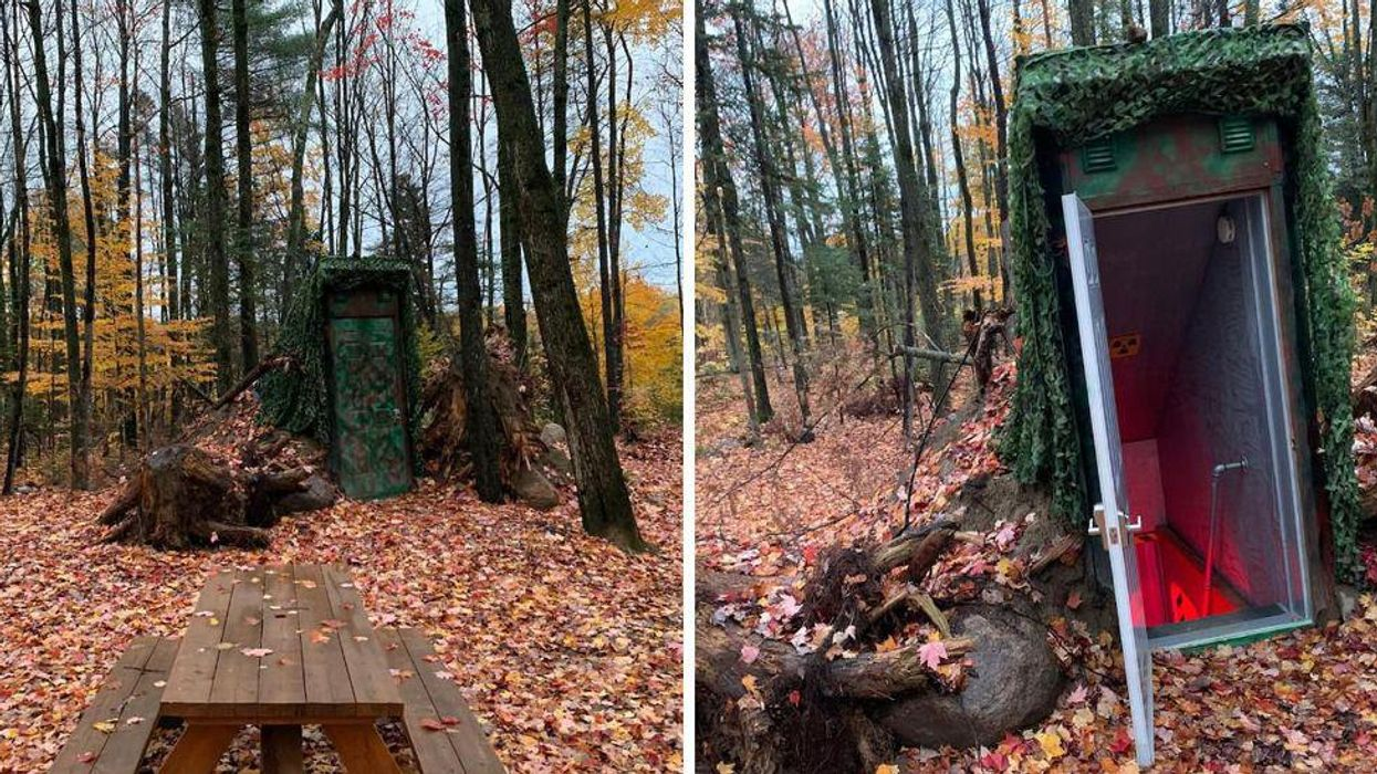 This Underground Bunker In Quebec Is Hidden Deep In The Forest & You Can Spend The Night