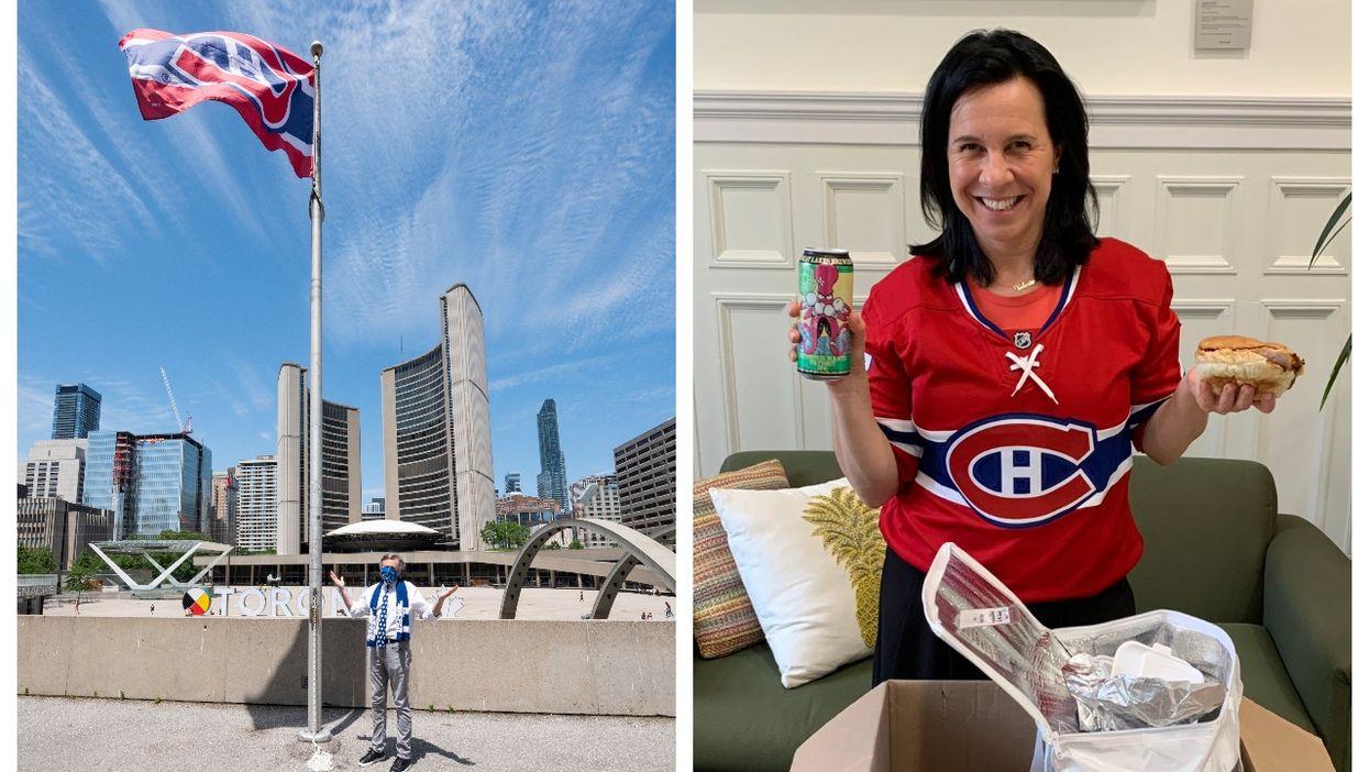 Toronto's Mayor Raised A Montreal Canadiens Flag At City Hall