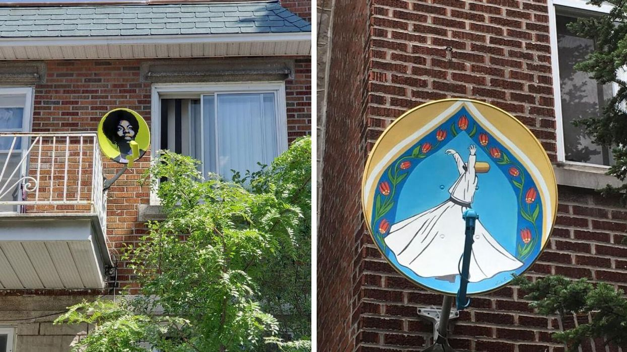 Ugly Disused Satellite Dishes All Over Parc-Ex Have Been Transformed Into Works Of Art