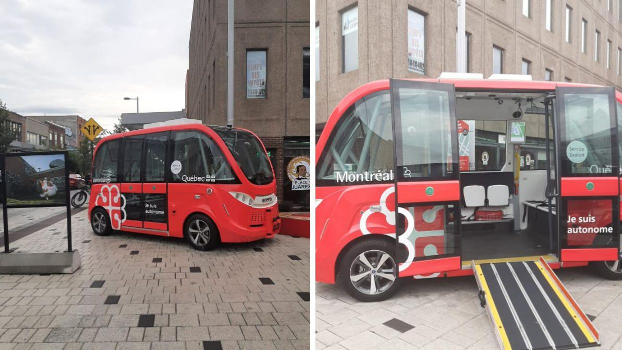 Video Shows Montreal's New Self-Driving Bus Rolling Through The Streets