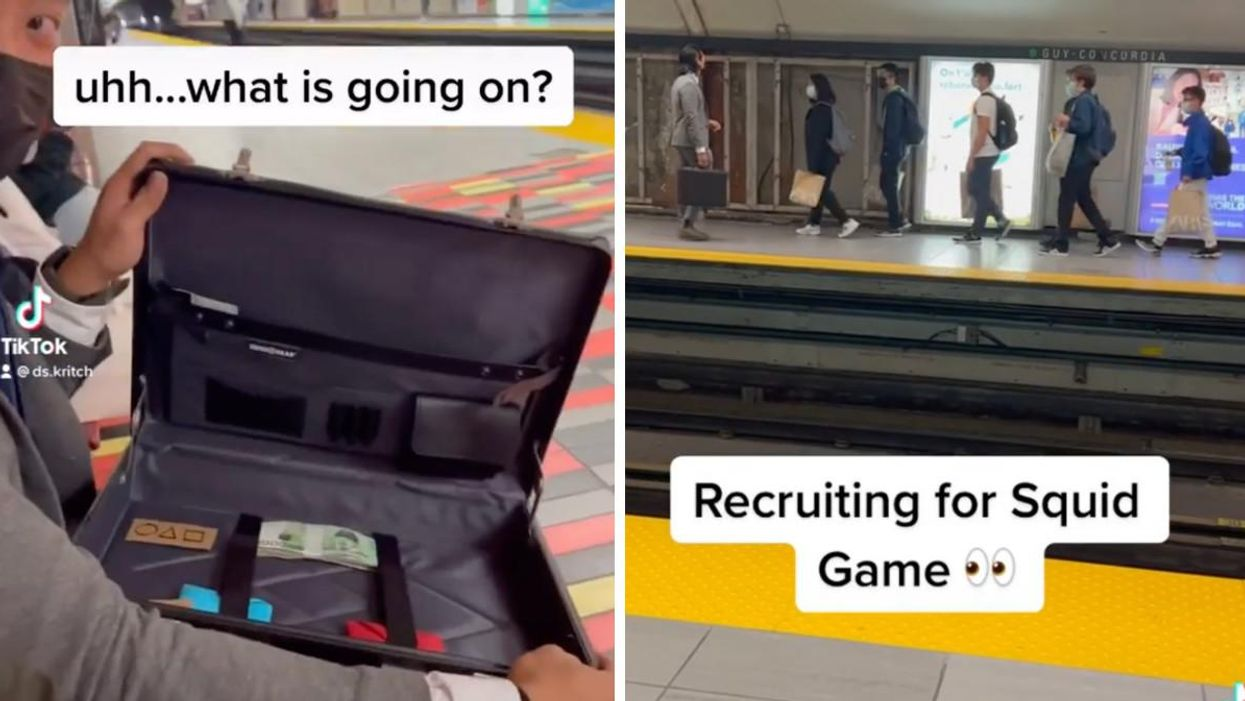 Videos Show Someone Recruiting 'Squid Game' Players In The Montreal Metro