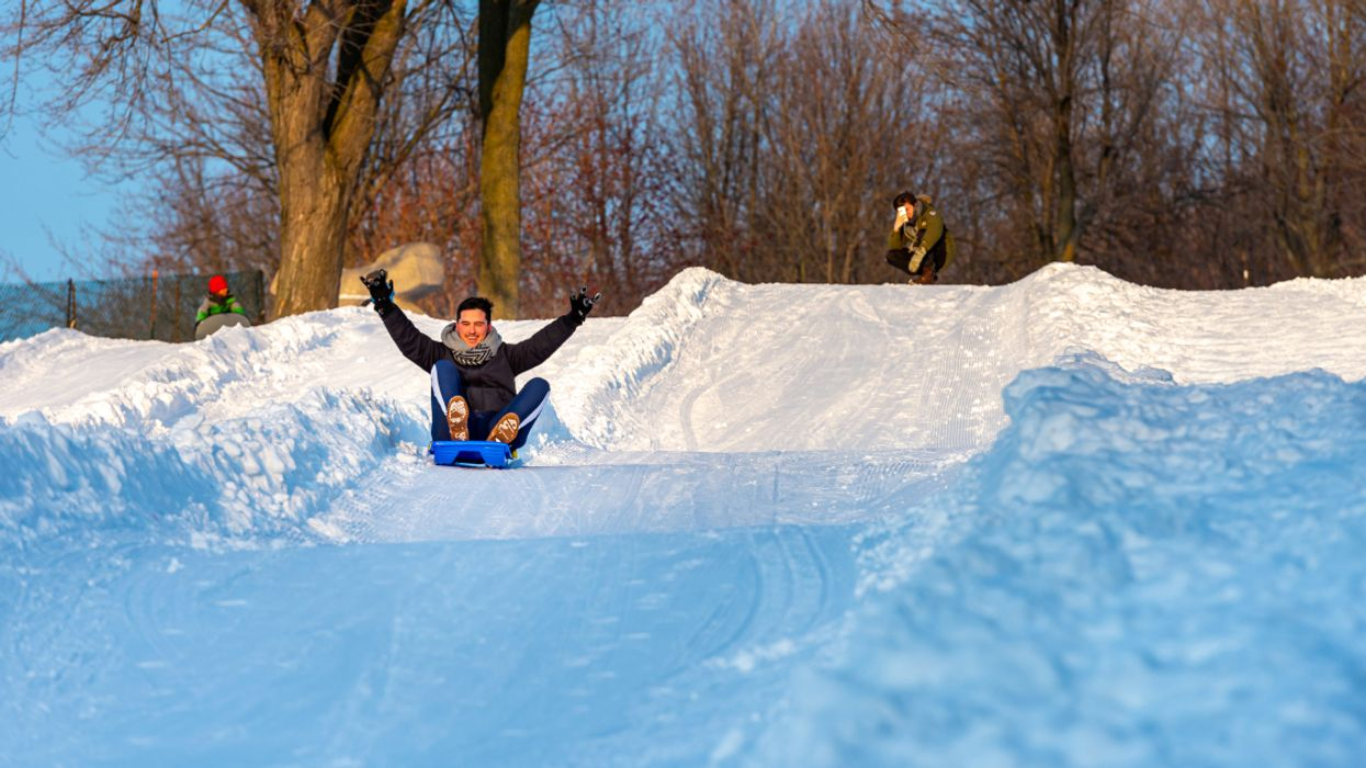 You'll Be Able To Ski & Sled Down A Huge Hill For FREE At Montreal's Parc Ignace-Bourget
